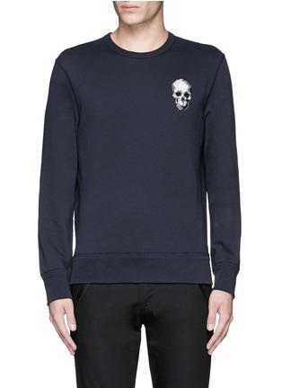 Main View - Click To Enlarge - Alexander McQueen - Skull embroidery sweatshirt