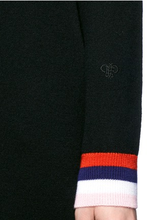 Detail View - Click To Enlarge - Emilio Pucci - Wool-silk-cashmere hooded knit dress