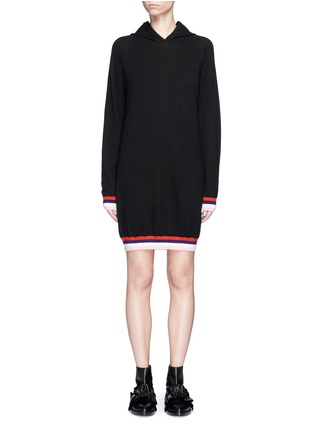Main View - Click To Enlarge - Emilio Pucci - Wool-silk-cashmere hooded knit dress