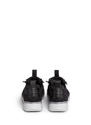 Back View - Click To Enlarge - Reebok - 'FuryLite TM' diamond mesh sneakers