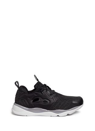Main View - Click To Enlarge - Reebok - 'FuryLite TM' diamond mesh sneakers