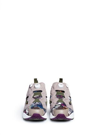 Front View - Click To Enlarge - Reebok - 'InstaPump Fury SG' botanical print sneakers