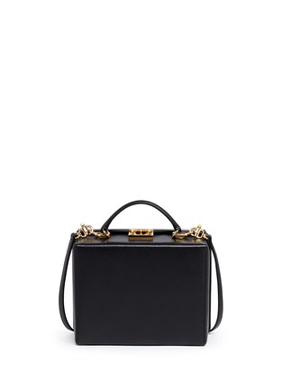 Back View - Click To Enlarge - Mark Cross - 'Grace Box' large saffiano leather trunk