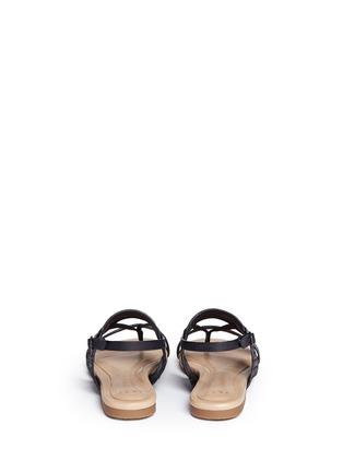 Back View - Click To Enlarge - UGG - 'Verona' metallic basket embossed leather sandals