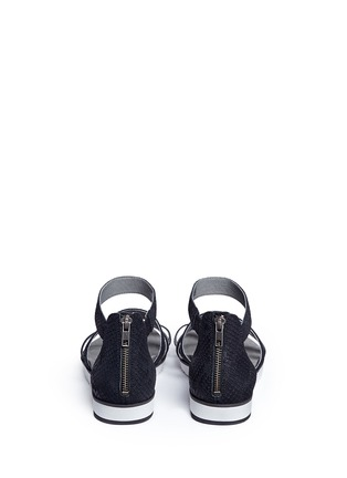 Back View - Click To Enlarge - UGG - 'Zina' snakeskin embossed leather strappy sandals