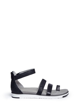 Main View - Click To Enlarge - UGG - 'Zina' snakeskin embossed leather strappy sandals