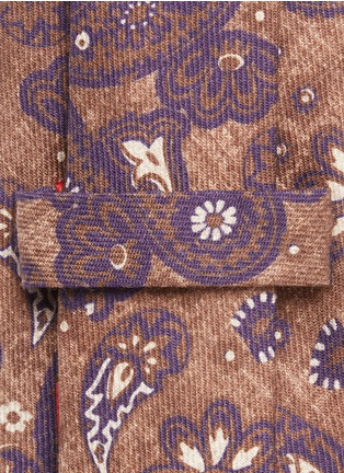 Detail View - Click To Enlarge - ISAIA - Crosshatch paisley print wool