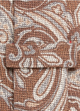 Detail View - Click To Enlarge - ISAIA - Paisley print wool-silk tie