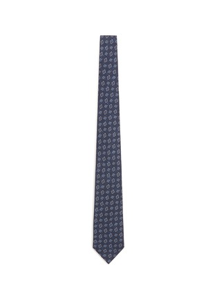 Main View - Click To Enlarge - ISAIA - Floral diamond print silk tie
