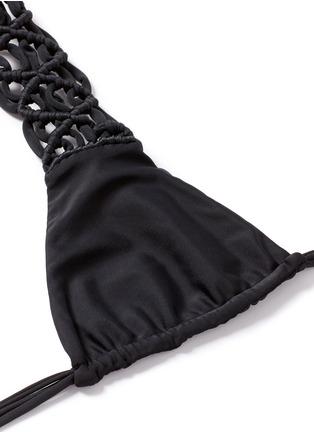 Detail View - Click To Enlarge - Mikoh - 'Raiatea' lattice halter triangle bikini top