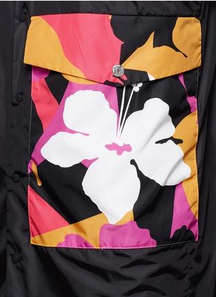 Detail View - Click To Enlarge - 71465 - Floral pocket windbreaker shirt jacket