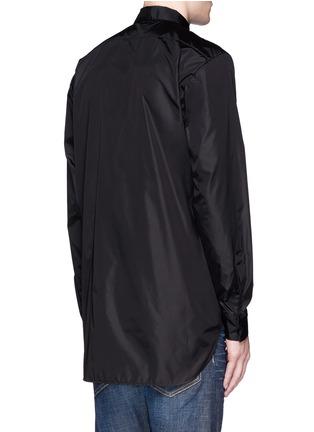 Back View - Click To Enlarge - 71465 - Floral pocket windbreaker shirt jacket