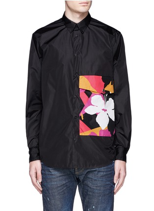 Main View - Click To Enlarge - 71465 - Floral pocket windbreaker shirt jacket