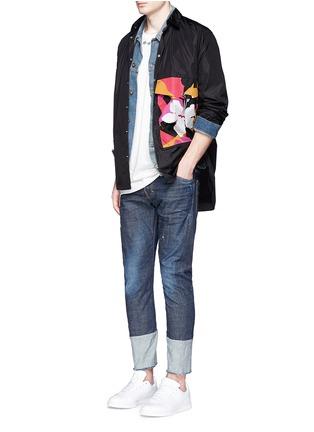 Figure View - Click To Enlarge - 71465 - Floral pocket windbreaker shirt jacket