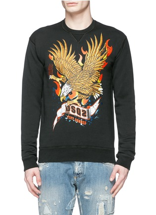 Main View - Click To Enlarge - Dsquared2 - Eagle print sweatshirt