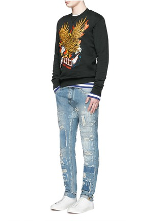 Figure View - Click To Enlarge - Dsquared2 - Eagle print sweatshirt