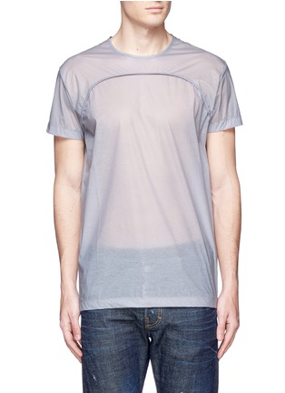 Detail View - Click To Enlarge - Dsquared2 - 'PALMS' print double layer T-shirt