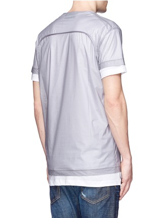 Back View - Click To Enlarge - Dsquared2 - 'PALMS' print double layer T-shirt