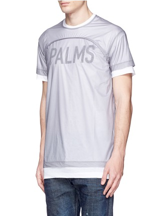 Front View - Click To Enlarge - Dsquared2 - 'PALMS' print double layer T-shirt