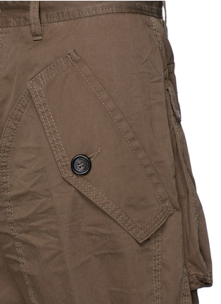 Detail View - Click To Enlarge - Dsquared2 - 'Maxy' leather drawstring shorts