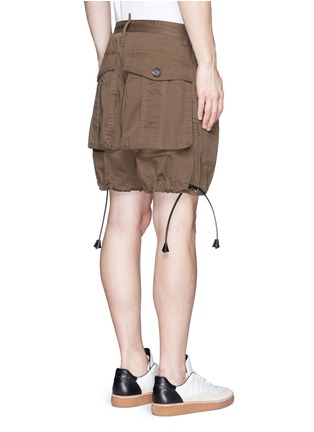 Back View - Click To Enlarge - Dsquared2 - 'Maxy' leather drawstring shorts