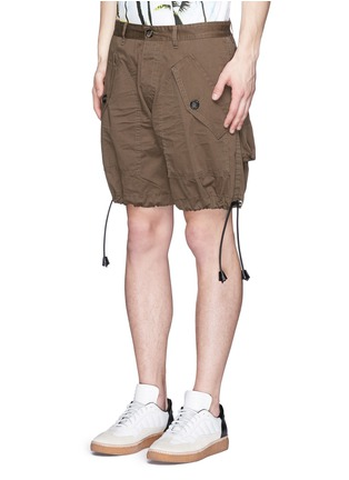 Front View - Click To Enlarge - Dsquared2 - 'Maxy' leather drawstring shorts