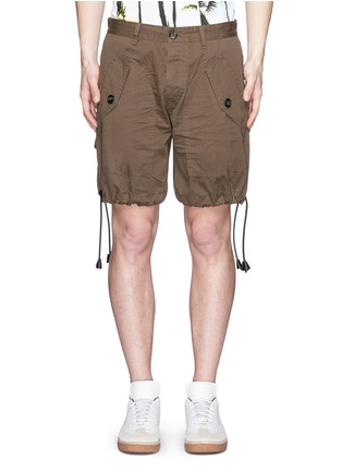 Main View - Click To Enlarge - Dsquared2 - 'Maxy' leather drawstring shorts