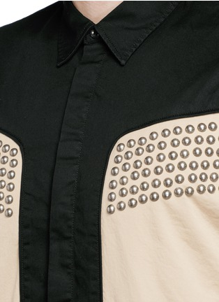 Detail View - Click To Enlarge - Dsquared2 - Stud gabardine cowboy shirt
