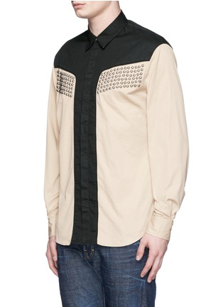 Front View - Click To Enlarge - Dsquared2 - Stud gabardine cowboy shirt