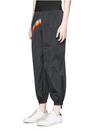 Front View - Click To Enlarge - Dsquared2 - Rainbow appliqué zip cuff pants