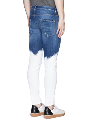 Back View - Click To Enlarge - Dsquared2 - Paint dip distressed skinny jeans