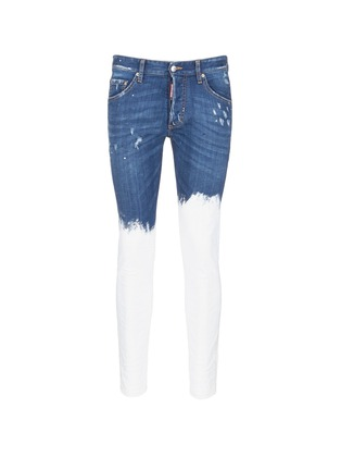 Main View - Click To Enlarge - Dsquared2 - Paint dip distressed skinny jeans