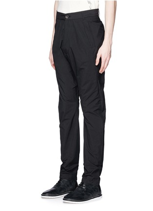 Front View - Click To Enlarge - Song for the Mute - 'Spiral' cotton blend tapered pants