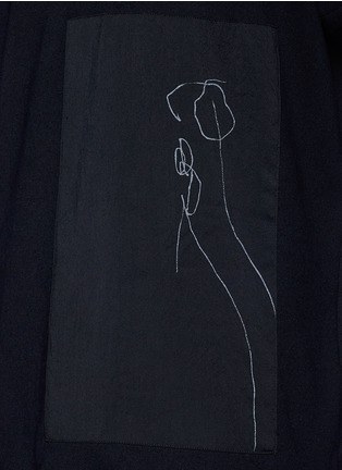 Detail View - Click To Enlarge - Song for the Mute - x Mason Mulholland oversize flower print raw silk T-shirt