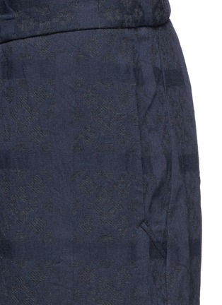 Detail View - Click To Enlarge - Song for the Mute - Geometric jacquard cotton track pants