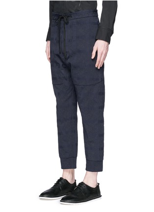 Front View - Click To Enlarge - Song for the Mute - Geometric jacquard cotton track pants