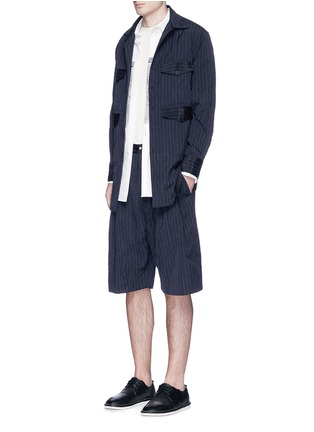Figure View - Click To Enlarge - Song for the Mute - Crinkled pinstripe pocket shirt