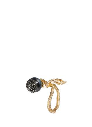 Detail View - Click To Enlarge - Heting - 'Pinecone' tsavorite pearl 18k gold ring