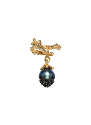 Main View - Click To Enlarge - Heting - 'Pinecone' tsavorite pearl 18k gold ring