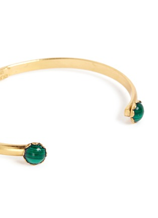 Detail View - Click To Enlarge - Ela Stone - 'Ana' malachite slim cuff