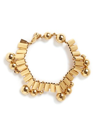Main View - Click To Enlarge - Ela Stone - 'Barbara' sphere watch chain brass bracelet