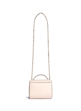 Back View - Click To Enlarge - GIVENCHY - 'Pandora' mini chain leather Palma shoulder bag