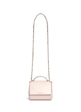 Main View - Click To Enlarge - GIVENCHY - 'Pandora' mini chain leather Palma shoulder bag