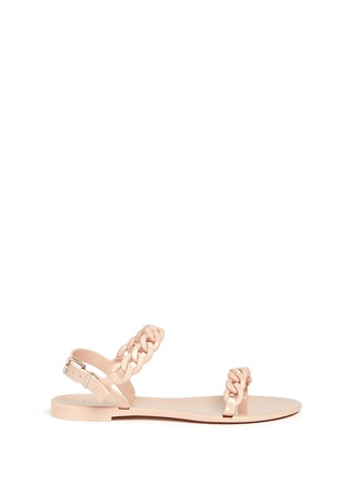 Main View - Click To Enlarge - GIVENCHY - Chain strap jelly sandals