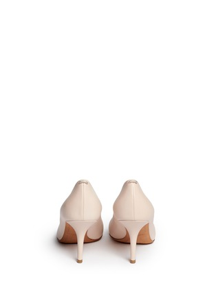 Back View - Click To Enlarge - Givenchy - Metal bar leather pumps