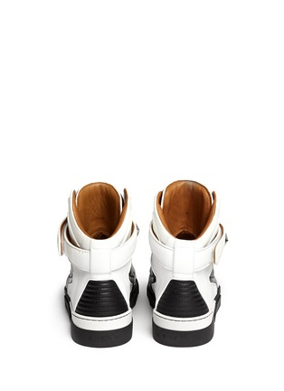 Back View - Click To Enlarge - Givenchy - 'Tyson' high top star stud leather sneakers