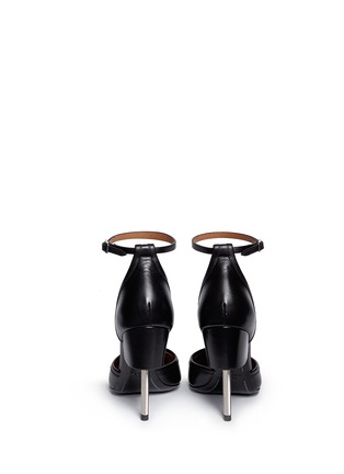 Back View - Click To Enlarge - GIVENCHY - Screw heel contrast toe leather pumps