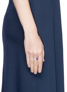 Delfina Delettrez 'Lips Piercing' pearl enamelled open ring