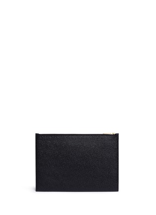 Back View - Click To Enlarge - THOM BROWNE - Pebble grain leather tablet holder