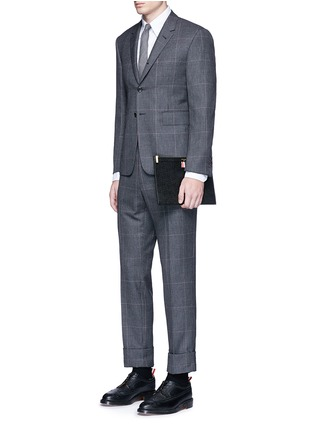 Figure View - Click To Enlarge - THOM BROWNE - Pebble grain leather tablet holder
